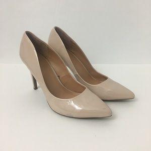 NY&Co nude patent heels pointed toe Sz 11